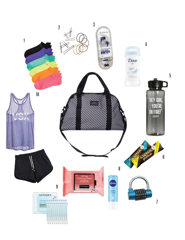 10 things you need in your gym bag for Things you need for a home